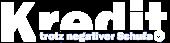 Kredit trotz negativer Schufa Logo in Weiß
