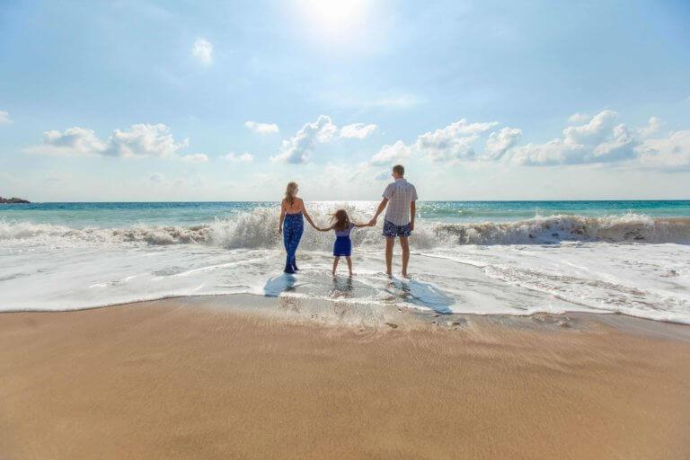 Kreditverwendung: Familie im Urlaub
